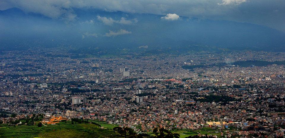 काठमाडौं उपत्यकाको दृश्य